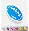 realistic design element rugby ball vector image