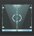 realistic modern glass door of mall boutique or vector image vector image