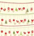 Retro Christmas Garland Background vector image vector image