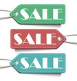 sale tags set tags sale isolated on white vector image vector image