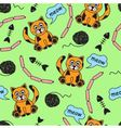seamless background with orange cats vector image vector image