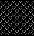 seamless pattern of white hearts on black vector image