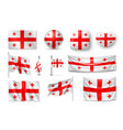 set georgia flags banners banners symbols flat vector image vector image