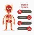 skeletal system and medical line icon vector image vector image