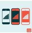 Smartphones icon isolated vector image vector image