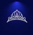 tiara with precious stones 1 vector image vector image