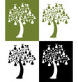 vector set of pear trees vector image vector image