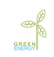 wind energy logo vector image