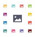 blank photo flat icons set vector image