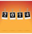 2014 on snapshots vector image vector image