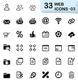 33 black web icons 03 vector image vector image
