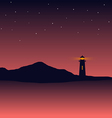 Abstract background sea scenery with lighthouse vector image