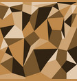 abstract polygons brown background vector image