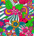 Abstract psychedelic seamless pattern vector image vector image