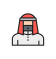 arabian man in traditional national dress bedouin vector image vector image