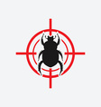 beetle icon red target vector image vector image