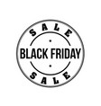 black friday vintage stamp vector image vector image