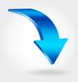 blue down arrow vector image vector image