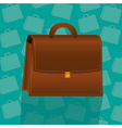 briefcase on background pattern of turquoise brief vector image