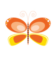 butterfly orange art vector image