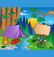 cartoon forest landscape 6 vector image vector image