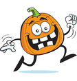 Cartoon Running Pumpkin vector image vector image