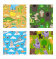 children fairy-tale seamless pattern set vector image