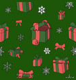 christmas papper pattern for gifts colored vector image