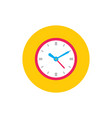 clock watch - concept colored icon in flat graphic vector image