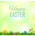 Colorful decorated easter eggs in grass vector image vector image
