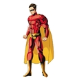 comic style male superheroe with red uniform icon vector image vector image