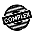 Complex rubber stamp vector image vector image
