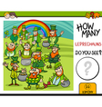 counting task with leprechauns vector image vector image