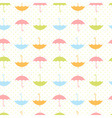 Cute autumn seamless pattern with umbrellas vector image vector image