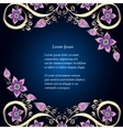 Decorative floral background with flowers Retro vector image vector image