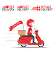 delivery ride motorcycle service order worldwide vector image