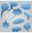 dialog clouds vector image