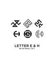 eh logo vector image vector image