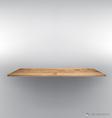 Empty wood shelf on wall vector image vector image