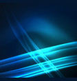energy lines glowing waves in the dark vector image vector image