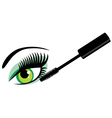 eye green mascara vector image vector image