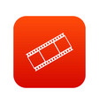 film with frames icon digital red vector image vector image