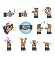 flat cartoon hand gesture vector image