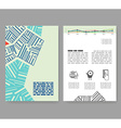 Flyer leaflet booklet layout Editable design vector image vector image