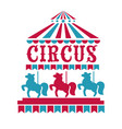 fun fair circus or carnival isolated icons merry vector image vector image