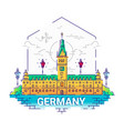 germany - modern line travel vector image vector image