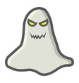 ghost filled outline icon halloween and scary vector image vector image