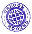 grunge textured oregon stamp seal vector image vector image