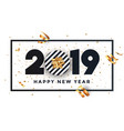 happy new year 2019 - banner with frame vector image vector image