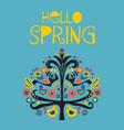 hello spring scandinavian folk vector image